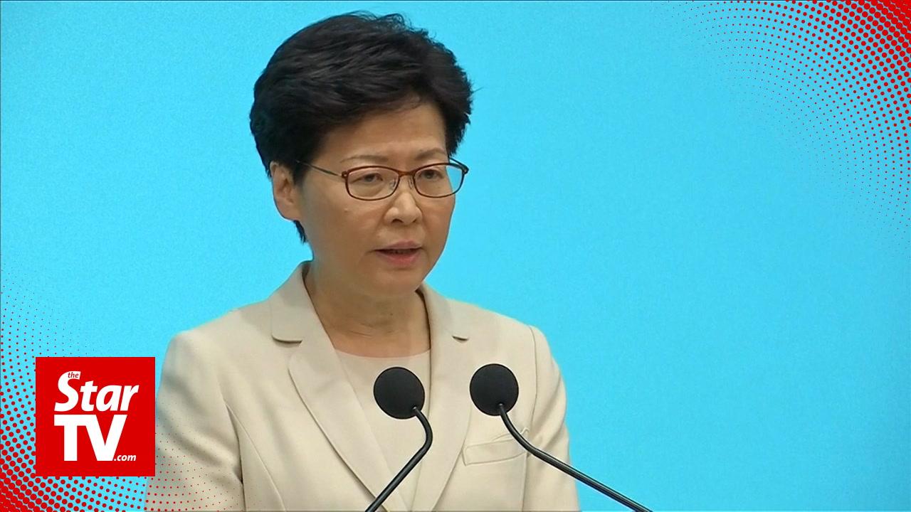 Hong Kong leader apologises, says she has heard the people